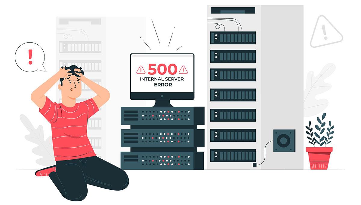 Ошибка сервера хостинга